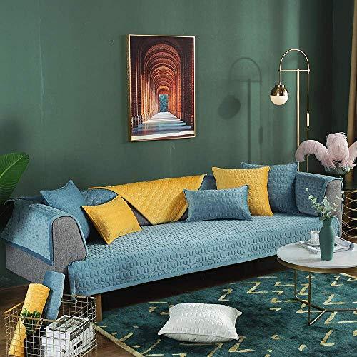 HYRGLIZI Funda para sofá de Cocina, Protector de sofá, Funda de sofá Suave Antideslizante de 2/3/4 plazas, Funda de Felpa para sofá de Oficina, Funda de sofá Resistente a Las Manchas de Invierno, Fun