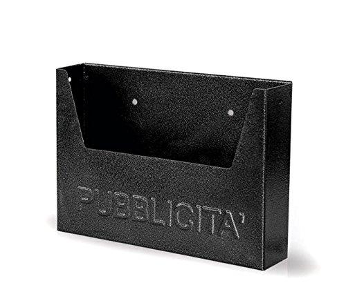 Buzón para publicidad ARTIGIAN FERRO Art. 714 de hierro pintado negro 34x7x25 cm