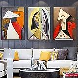 DCLZYF Carteles e Impresiones artísticos de Pintura Abstracta de Estilo nórdico Pinturas en Lienzo Imágenes artísticas de Pared para decoración de Sala de Estar -40x60cmx3 (sin Marco)