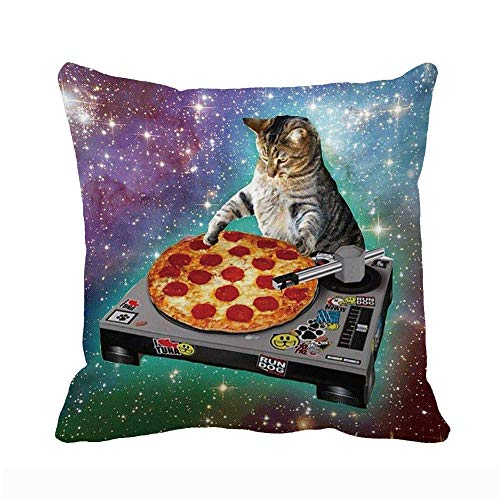 UOOPOO Food Funny Creative Hipster DJ Cat Pizza Cat Galaxy Pizza Cat Design...
