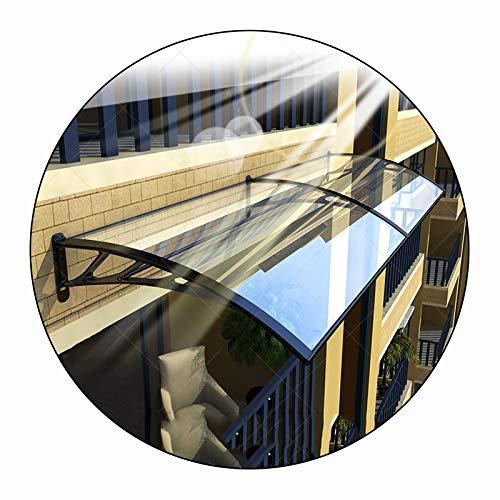 LIANGLIANG Vordach Haustür Überdachung, Schalldicht Anti-Lärm PC Entflammbarkeit, Aluminiumlegierung Antialterung Starke Tragfähigkeit, Benutzt Für Tür Fenster