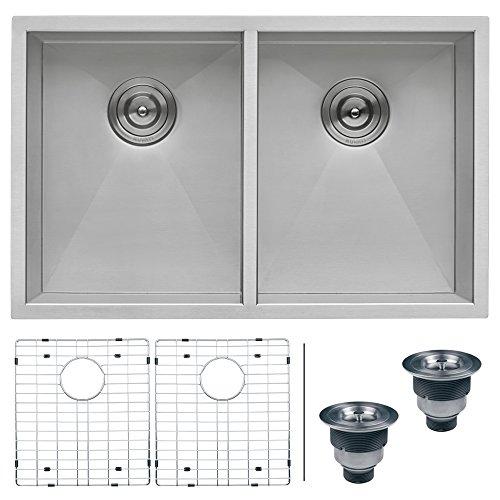 Ruvati RVH7350 Undermount 16 Gauge Kitchen Sink Double Bowl, 30