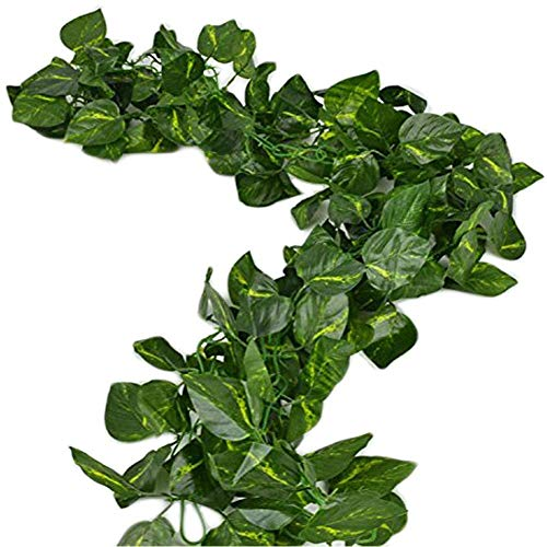 Deceny CB 156 feet Fake Foliage Garland Leaves Decoration Artificial Greenery Ivy Vine Plants for Home Decor Indoor Outdoors(Scindapsus Leaves)