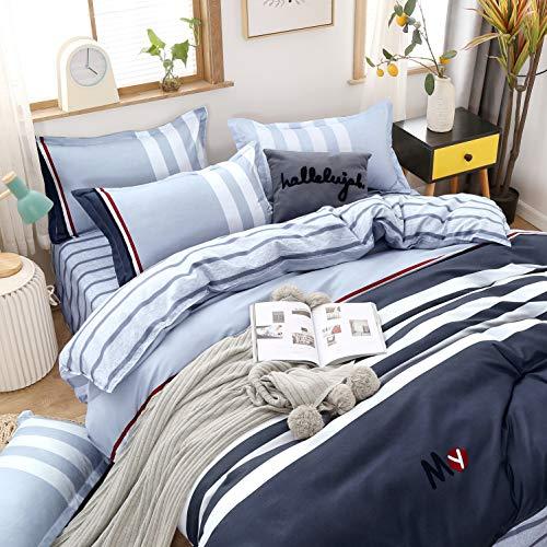 Ropa de cama de 200 x 220 cm, 100% microfibra muy suave y agradable, aloe vera, funda nórdica de 200 x 220 cm con cremallera, 2 fundas de almohada de 80 x 80 cm, transpirable, 10 años de garantía