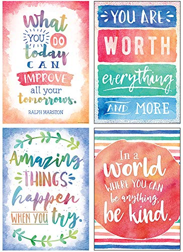 Watercolor Positive Poster Pack