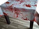 Sachsen Versand Blutige Tisch-Decke Blut Halloween Horror Grusel gruslig Deko Karneval Fasching