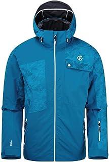 Dare 2b Men's Testament Waterproof Breathable Taped Seams Underarm Vents Detachable Hood With Wired Peak Jacket Jackets