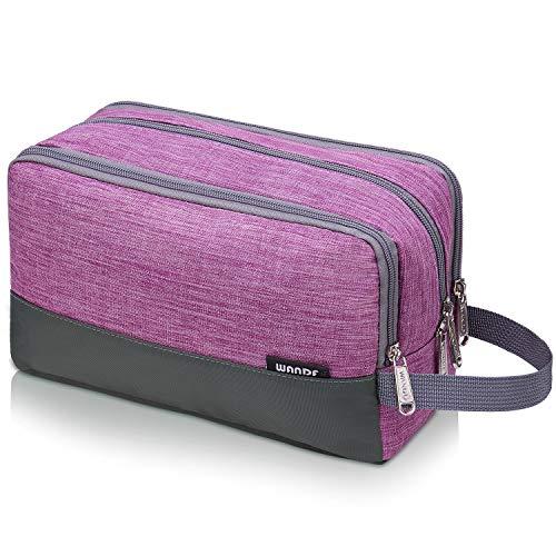 Toiletry Bag Small Nylon Dopp Kit Lightweight Shaving Bag for Men and Women (purple)