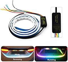 RGB Waterproof ISO Certified Colorful Flowing LED Trunk Strip for Car Trunk Dynamic Blinkers LED Turn Light Tail Lights LED DRL Light by Generic Hub™