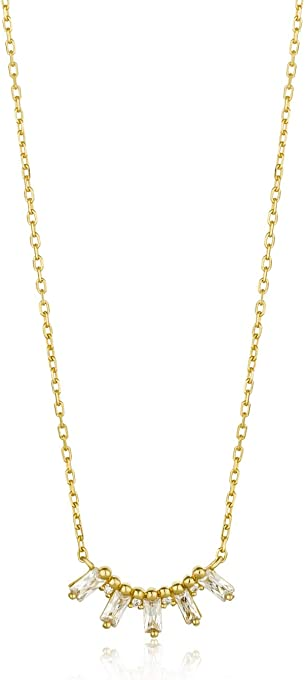 Glow Solid Bar Necklace