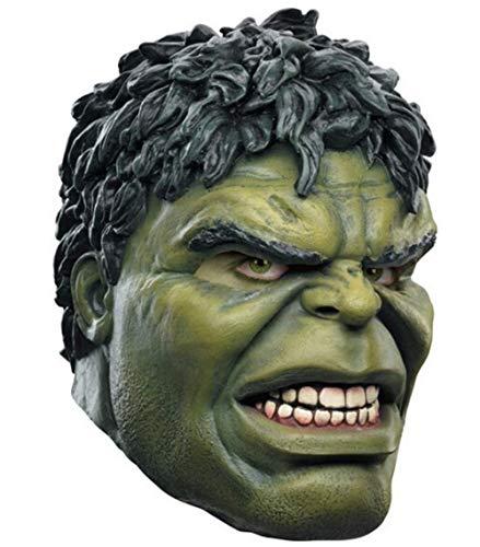 ZhangHD Hulk Latex Mask Cosplay Superhero Costume Halloween Masquerade Mask Green