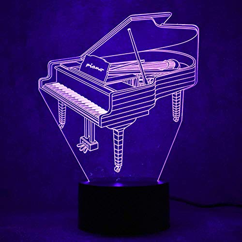 3D Night Light 3D Led For Children Touch Usb Button Visual Piano Table Lamp Baby Sleep Lighting Home Decoration Gift Musical Instrument Night Light