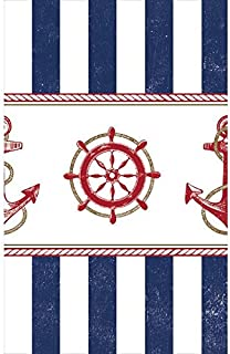 Amscan Anchors Aweigh Party Table Cover, 54