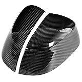Cubierta de espejo de vista trasera de fibra de carbono, cubierta de tapa de espejo lateral de coche Ajuste para BMW X3 G01 X4 G02 X5 G05 X7 2018 2019 2020 Puerta Izquierda Derecha Retrovisor