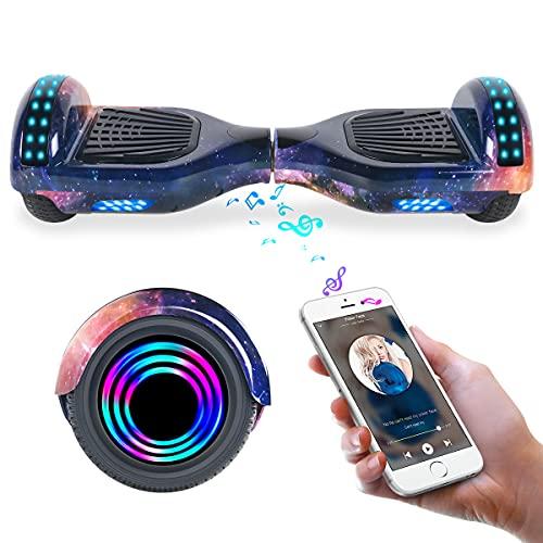 """TOEU Hoverboard 6.5\"""" Self Balance Scooter mit Bluetooth - Elektro Scooter Geschenk für Kinder (Purple-BL)"""