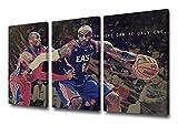 NBA Legends Kobe Bryant, Lebron James, Poster auf Leinwand,