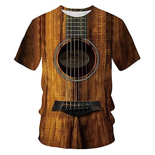 Camiseta Hombre Regular Fit 3D Estampado Cuello Redondo Tops Hombres Estilo Hip Hop Camisa Hombres Casual Vacaciones Camiseta Hombres Verano Manga Corta Shirt Hombres