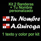 Vinilin - Pegatina Vinilo Bandera Castilla y León + tu Nombre - Bici, Casco, Pala De Padel, Monopatin, Coche, etc. Kit de Dos Vinilos (Blanco)