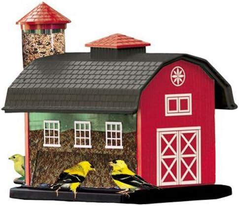 Audubon-Red-Barn-Combo-Seed-Bird-Feeder-Model-6290