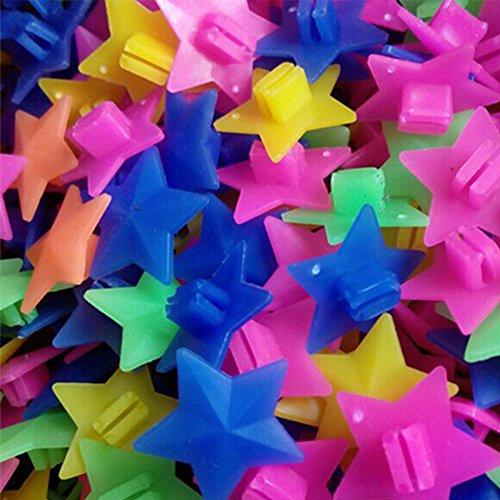 SUNERLORY Clip de plástico Colorido para niños, niñas, niños, Bicicleta, Rueda de Bicicleta, radios, Cuentas, decoración, 36 Piezas(36 Piezas)