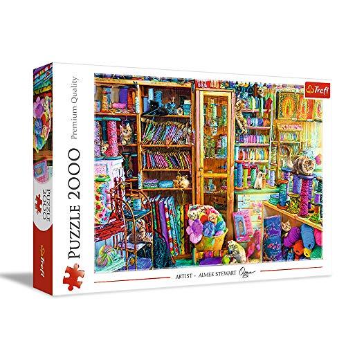 Trefl- Katzenparadies 2000 Teile, Premium Quality, für Erwachsene und Kinder AB 12 Jahren Puzle, Multicolor (27113)