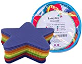Everyday Educate Sitting Spots(30 Stars)- Colorful Carpet Markers for Classroom - Additional Teaching Material and Spot Markers to Keep Kids Classroom Organize- Sit Markers in 6 Different Vivid Colors