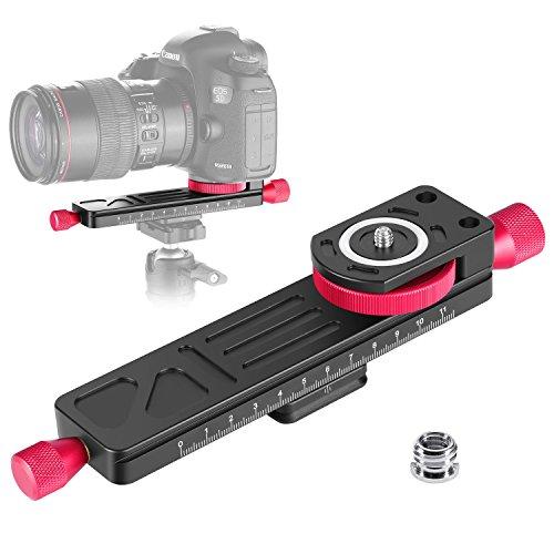 Linghuang glijplaat voor macrofotografie, instelling van 115 mm, met 1/4 inch schroefkop, voor camera's, DSLR, statief, pincet Arca/RRS compatibel