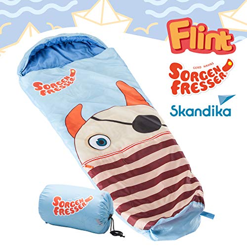 Skandika Sorgenfresser Flint sacco a pelo bambini blu 170 cm -12°C nuovo