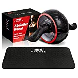 Ab Roller Wheel for Abs Workout with Knee Pad – Ab Wheel Abdominal Exercise Equipment - Perfect...