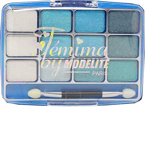 Palet oogschaduw 12 kleuren blauw turquoise