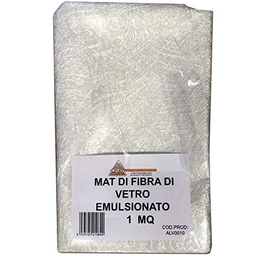 Hojas de fibra de vidrio Mat fibra de vidrio para resina de carbono poliéster m² 1, kit de fibra de vidrio de resina y lana de vidrio para barcos