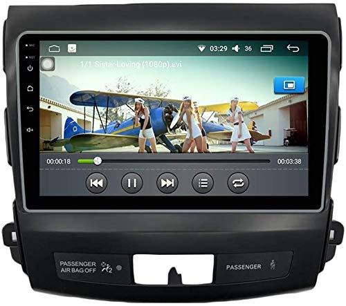 Android 10 Coche Radio Estéreo GPS Navegación para Mitsubishi Outlander 2005-2012 SAT NAV IPS 2.5D Pantalla táctil Teléfono móvil, Control WiFi SWC Video Receptor