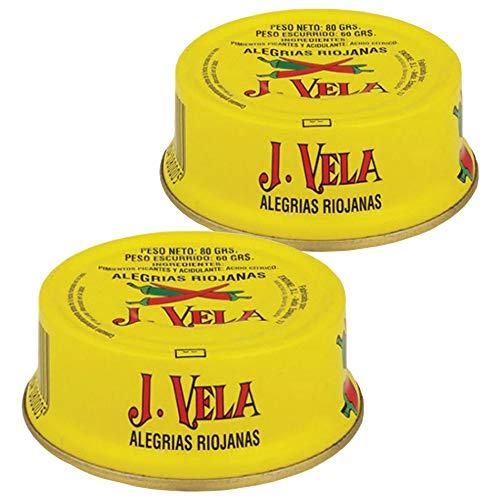 Alegrías Riojanas 🌶️ Lote 2 Latas de Alegrías Riojanas J. Vela 🌶️ Producto Artesano Pimientos en Conserva Asados con Leña