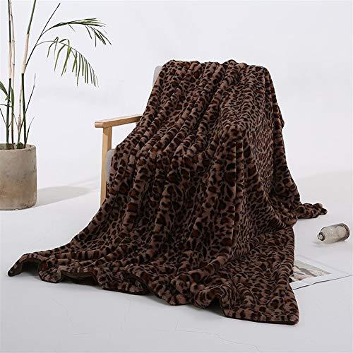 BZRXQR Versátil Sofá Lanza Caliente Manta Gruesa Sillón Cubierta Suave sofá (Color : CoffeeLeopard, Size : 160x200cm)