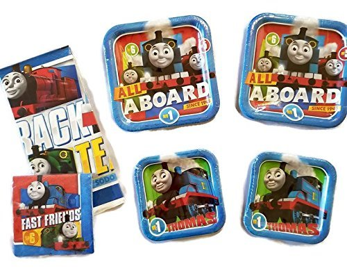 Thomas The Train All Aboard 9' Plates (16) 7' Plates (16) Napkins (32) Table Cover (1)