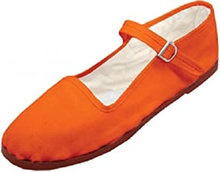 orange mary janes