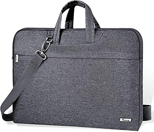 Voova Maletin Funda para Portatil 13 13.3 Pulgadas, Bolsa Ordenador portatil Impermeable Compatible con MacBook Air 2020 M1, Macbook Pro 13 2021, DELL XPS 13, 13.5' Surface Book 3/Laptop 4, Gris