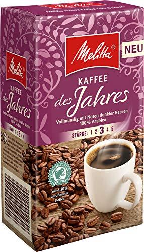 Melitta Gemahlener Röstkaffee, Filterkaffee, 100% Arabica, vollmundig mit zartherber Kakao-Note, Stärke 3, Kaffee des Jahres 2020, 500 g