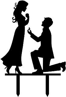 Propose Wedding Cake Topper Funny Love Couple Wedding Decoration Cake Topper Wedding Engagement Bridal Shower Wedding