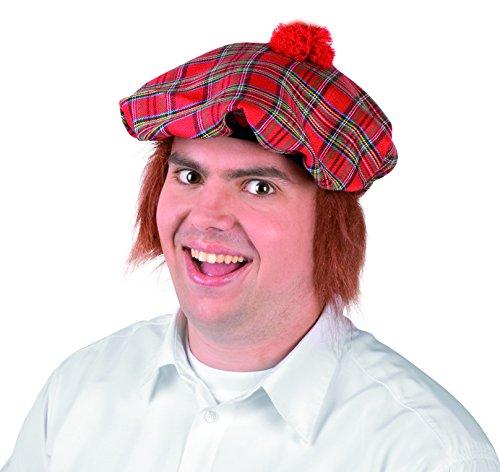 Boland 81205 Chapeau Scottish Scotsman avec cheveux Rouge