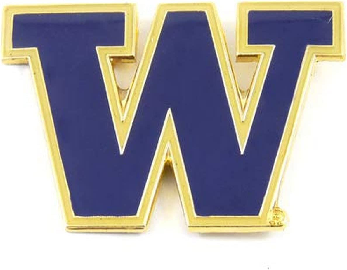 Aminco Direct store NCAA Washington Huskies Safety and trust Color Logo Pin Team