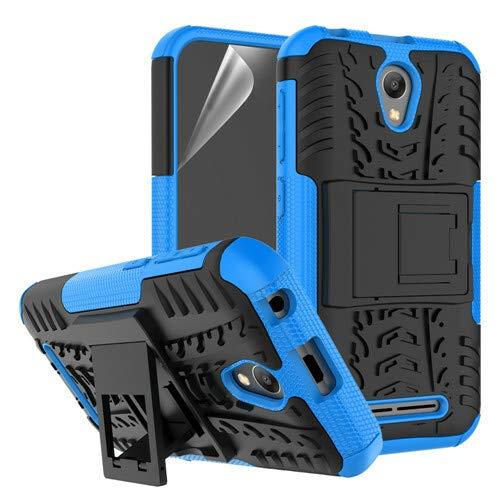 betterfon | Outdoor Handy Tasche Hybrid Hülle Schutz Hülle Panzer TPU Silikon Hard Cover Bumper für ZTE Blade L110 Blau