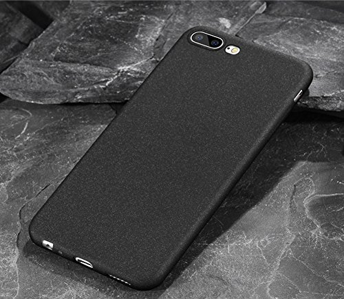 Oneplus 5 case Ultra Thin Frosted Sandstone Shock-Absorption, Anti-Scratch Soft Gel TPU Silicon Back Cover for Oneplus 5 (5.5') 360 Full Protection Phone Cases (Black)