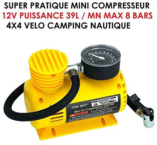 Powerful Compact Compressor 12V 39L/min. Raid Preparation 4x4