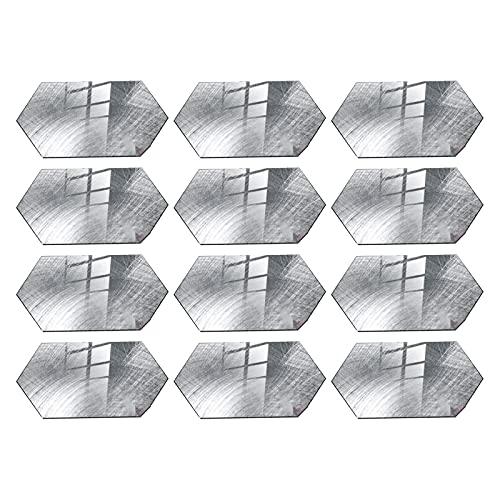HelloCreate 12 hojas de azulejos de pared calcomanías de cocina Backsplash mármol impermeable Peel and Stick Tile Stickers para cuarto de baño y lavandería