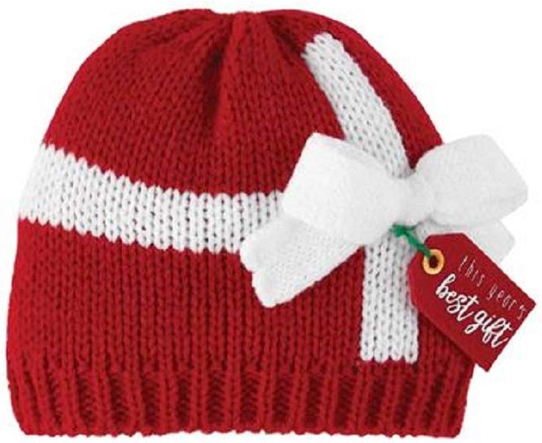 Mud Pie Baby Best Gift Knit HAT, red, 0-6 Months