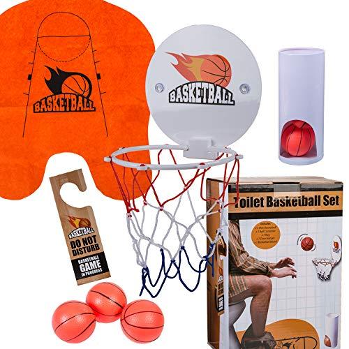 Preis am Stiel Toiletten Basketball Set 7-teilig   Badezimmer   Accessoirce   Scherzartikel   Geschenkidee für Männer   Spielzeug   lustiges Geschenk