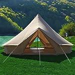 Canvas Bell Tent Gazebo Outdoor Event Canopy Sun Shelter Tarp Garden Event Tents 7
