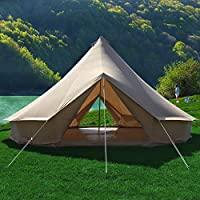 Canvas Bell Tent Gazebo Outdoor Event Canopy Sun Shelter Tarp Garden Event Tents