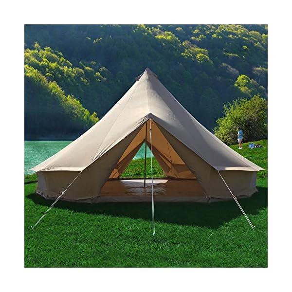 Canvas Bell Tent Gazebo Outdoor Event Canopy Sun Shelter Tarp Garden Event Tents 1
